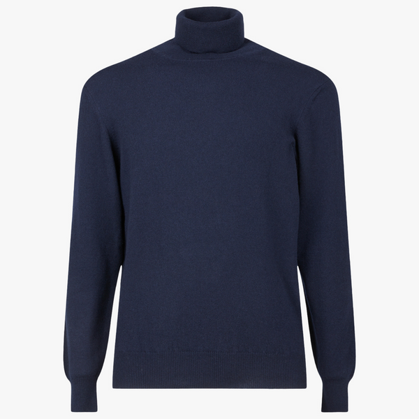 MTO Cashmere Turtle Neck Pullover Navy 8540 3223