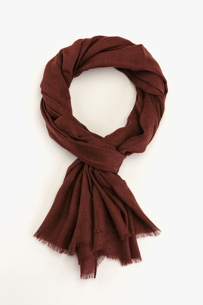 MTO Piacenza Cashmere Stole Chic Copper Red #81588-12