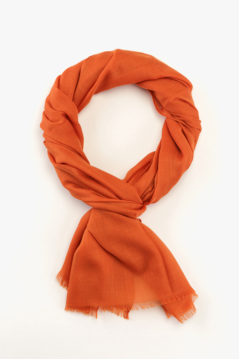 MTO Piacenza Cashmere Stole Chic Orange #81588-50044