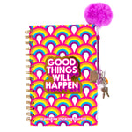 Rainbow Bright Locking Activity Journal