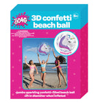 3D Unicorn Confetti Beach Ball