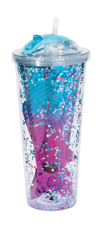 Mermaid Tail Confetti Tumbler