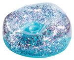 Glitter Confetti Inflatable Chair: Blue