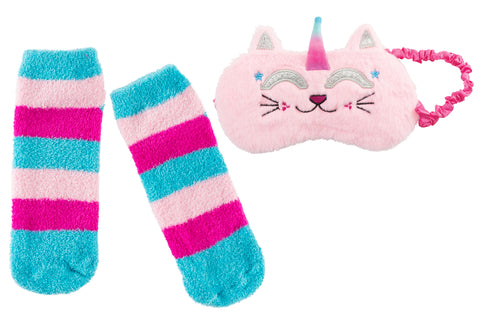 Sleep Mask & Sock Set: Caticorn