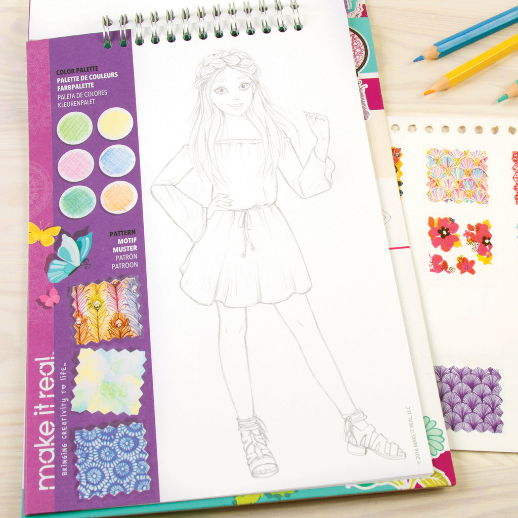 Inspirational for Blooming Creativity Make It Real Fashion Design Sketchbook