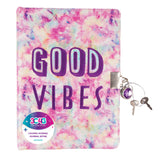 Good Vibes Spiral Locking Journal