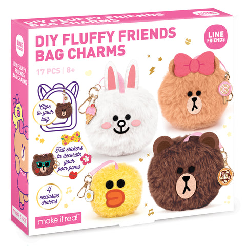 Line Friends Fluffy Friends Bag Charms