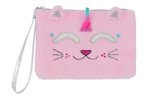 Faux Fur Wristlet: Caticorn
