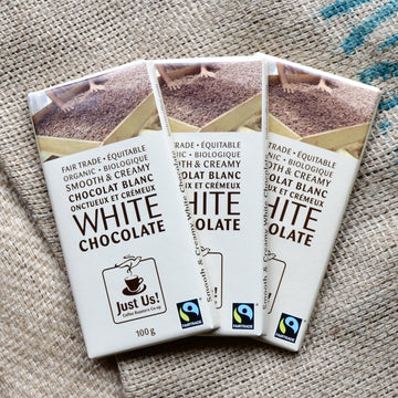 Just Us! - White Chocolate Bar (100g EA)