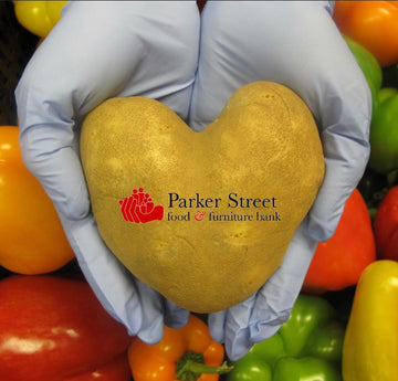Parker Street Food Bank Donation