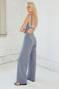 Third Form Band Back Jumpsuit - Stone