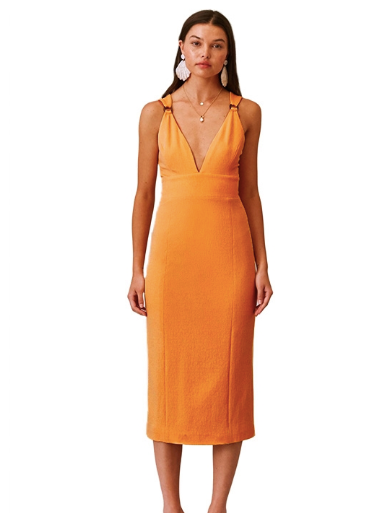 Finders Keepers Effy Dress Apricot