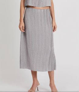 Third Form Ripple Pleat Midi Skirt
