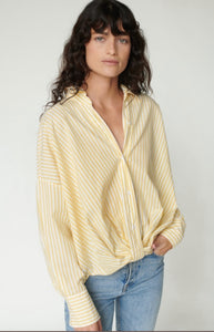 Stateside Poplin Twist Shirt (Yellow Stripe)