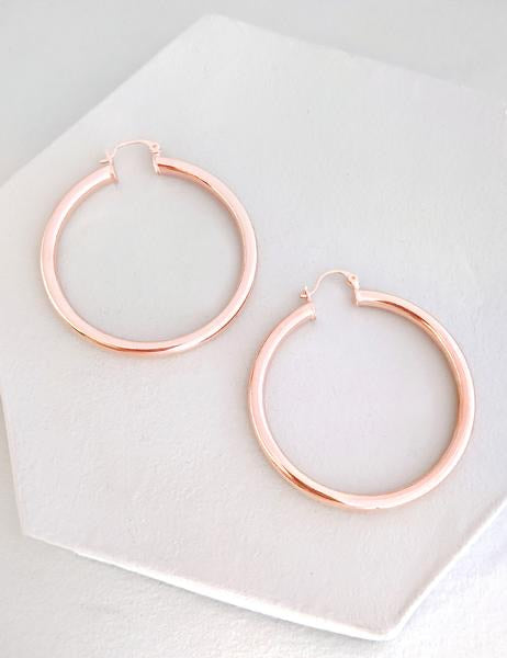 Nuance Jewelry Rose Gold Hoops