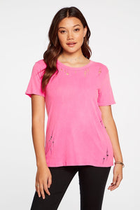 Chaser Easy Tee Neon Pink