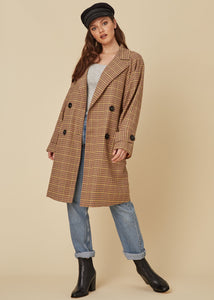 Lost and Wander Multi Plaid Coat