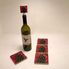 Load image into Gallery viewer, Marble Holiday Trivet, Coaster and Winestopper