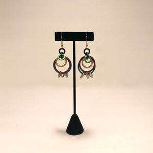 Anodized Aluminum Multi Loop Earring