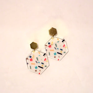 Brass and Acrylic Earrings