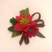 Load image into Gallery viewer, Felt Flower Pins