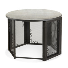Load image into Gallery viewer, Accent Table Pet Crate in Home with Open Door