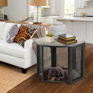 Accent Table Pet Crate in Home