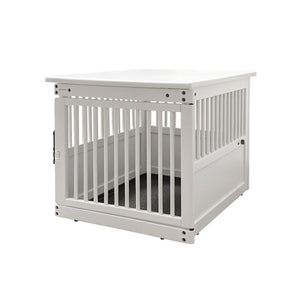 Wood End Table Crate White