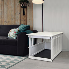 Load image into Gallery viewer, Wood End Table Crate White in House