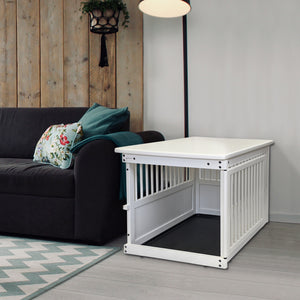 Wood End Table Crate White in House
