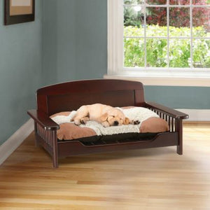 Wooden Pet Bed  with Dog