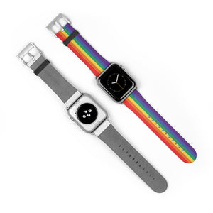 Traditional Rainbow Apple Watch Band