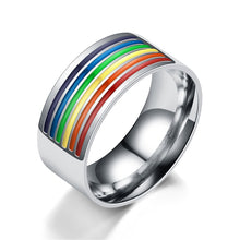 Load image into Gallery viewer, Rainbow Pride Ring (Stainless Steel)