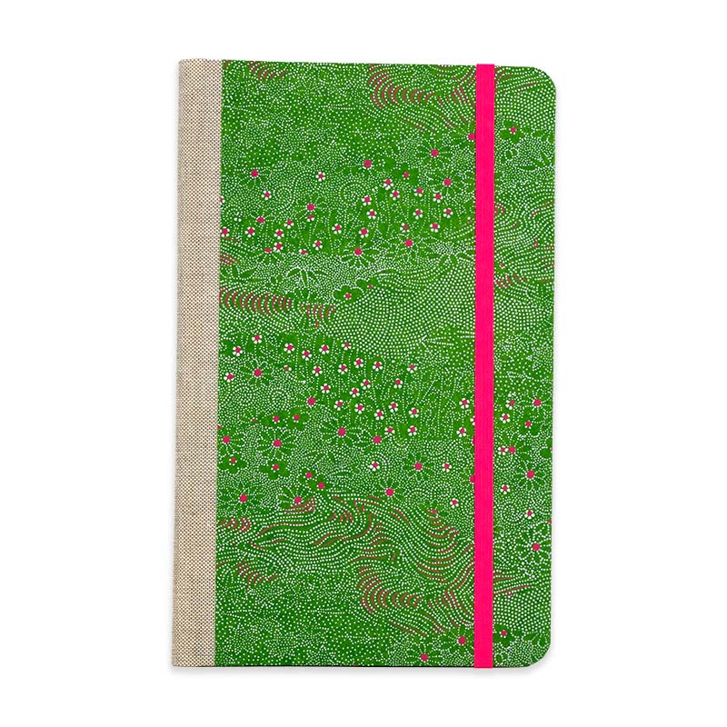Notizbuch / Meadow Green  / Chiyogami / liniert / A5 small / 21x13 cm