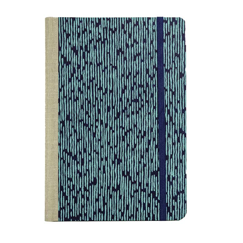 "Skizzenbuch Dotted A5 ""Matrix Blue _on Blue"" / Katazome Shi / Bullet Journal"