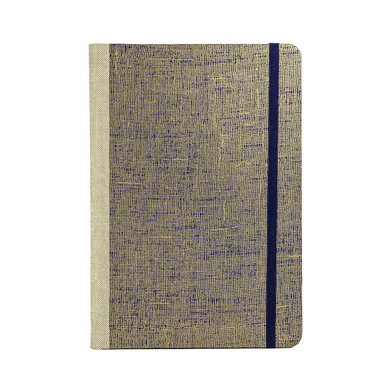 "Skizzenbuch Dotted A5 ""Mesh Gold _on deepBlue"" / Chiyogami / Bullet Journal"