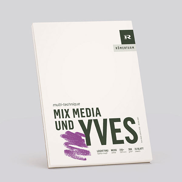 Römerturm / Mix Media und Yves / 300grm² /  Mixed Mediablock