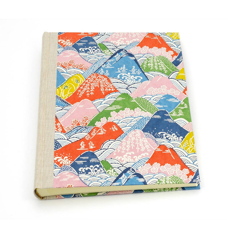 "Fotoalbum "" colorful Mountains "" / Chiyogami / H24xB20 cm"