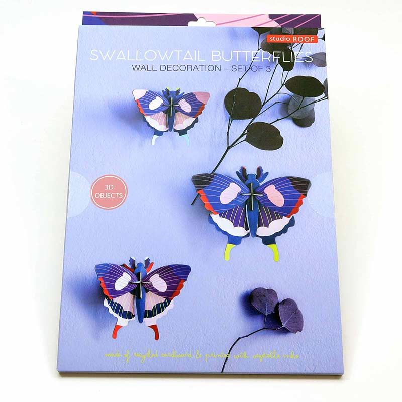 Swallowtail Butterflies / Set of 3