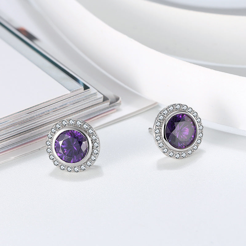 Blinding Shine Amethyst Earring