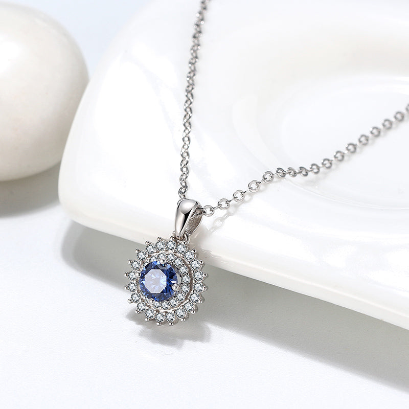 Snowy Night Blue Necklace
