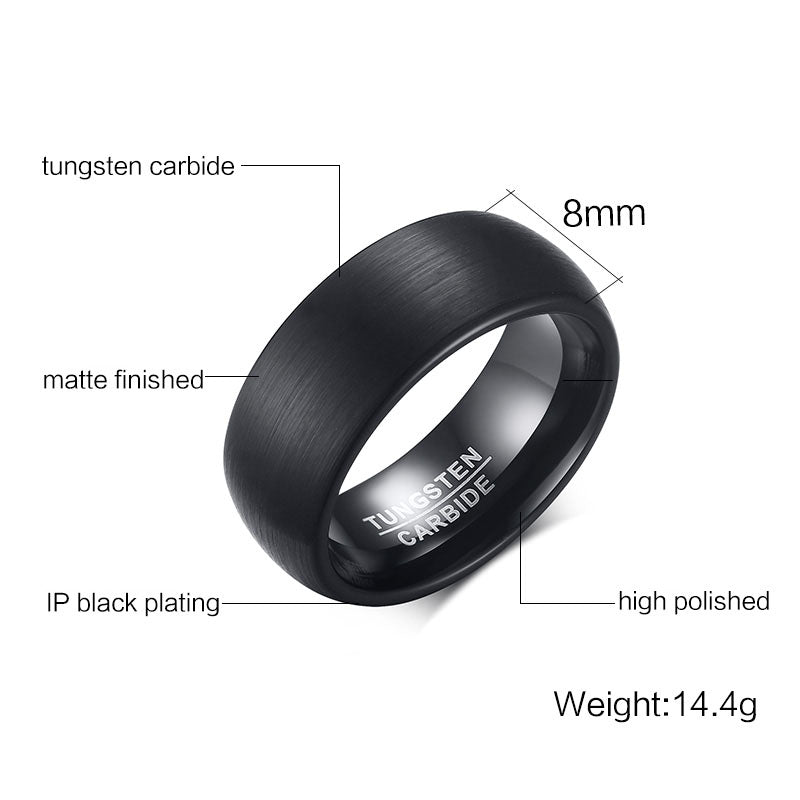 Tungsten carbide ring -TCR037