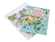 Load image into Gallery viewer, Usborne Atlas & Jigsaw Puzzle The World 300 pcs