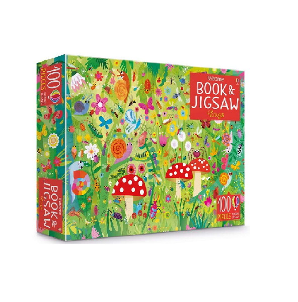 Usborne Book & Jigsaw  Puzzle Bugs 100 pieces