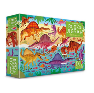 Usborne Book & Jigsaw Puzzle Dinosaurs 100 pieces