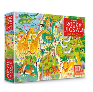 Usborne Book & Jigsaw Puzzle At the Zoo 100 pieces