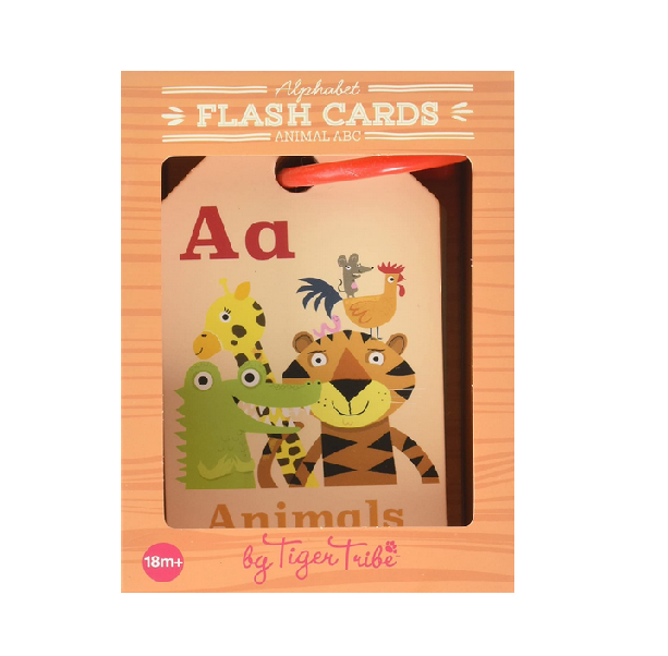 Tiger Tribe Flash Cards, Animal ABC Learning Toy