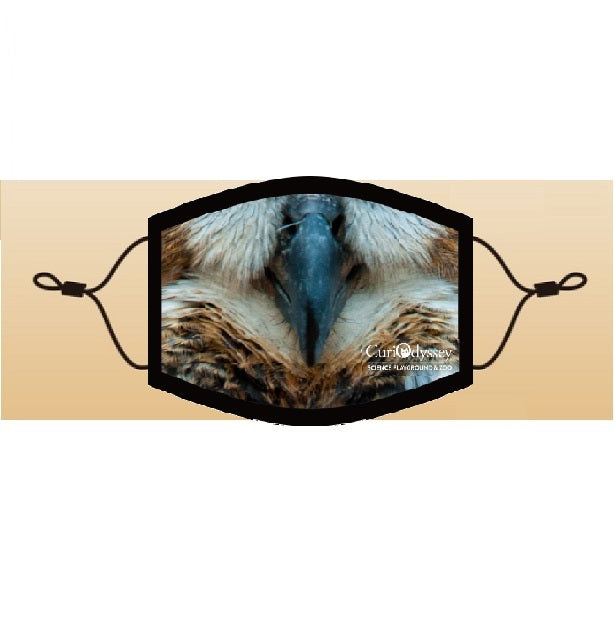 CuriOdyssey Great Horned Owl Adult/Youth Face Mask