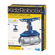 Load image into Gallery viewer, 4M KidzRobotix Tin Can Cable Car