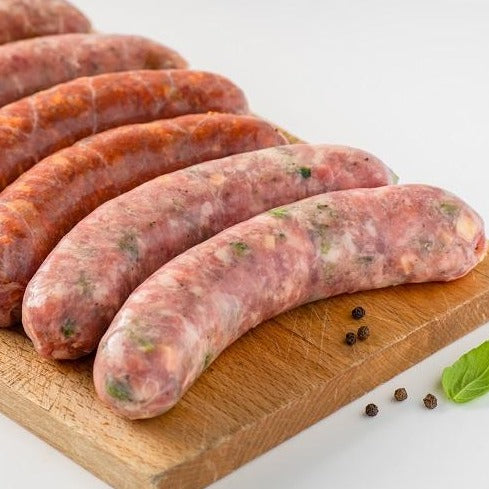 Saucisses bacon & fromage - 500 gr